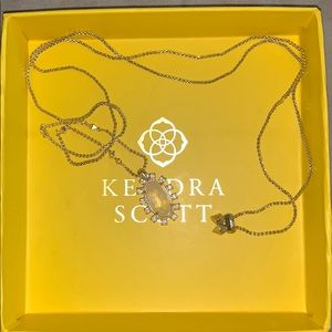 Long gold Kendra Scott necklace